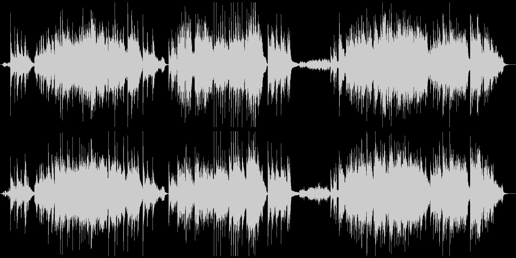 バッハプレリュードのアンサンブルアレンジの未再生の波形