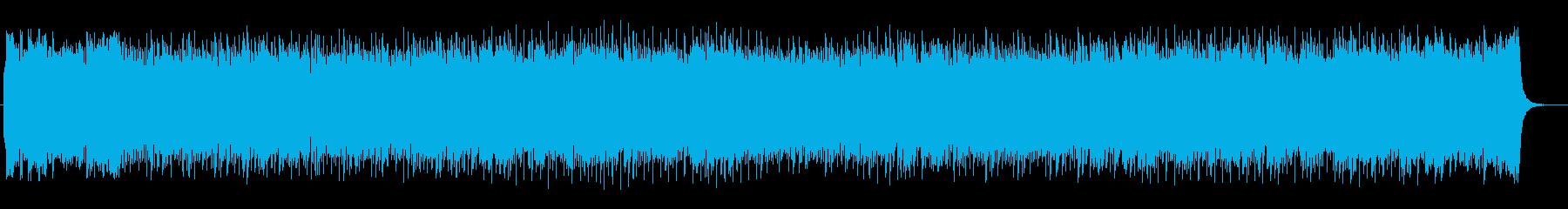 シンセサイザーのわくわくするポップスの再生済みの波形