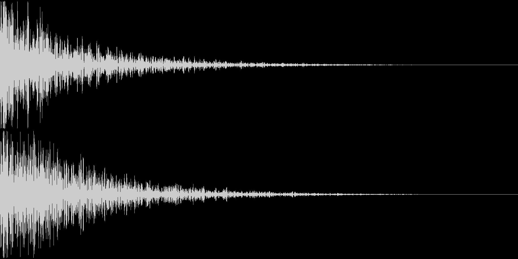 ドーン-11-2(インパクト音)の未再生の波形