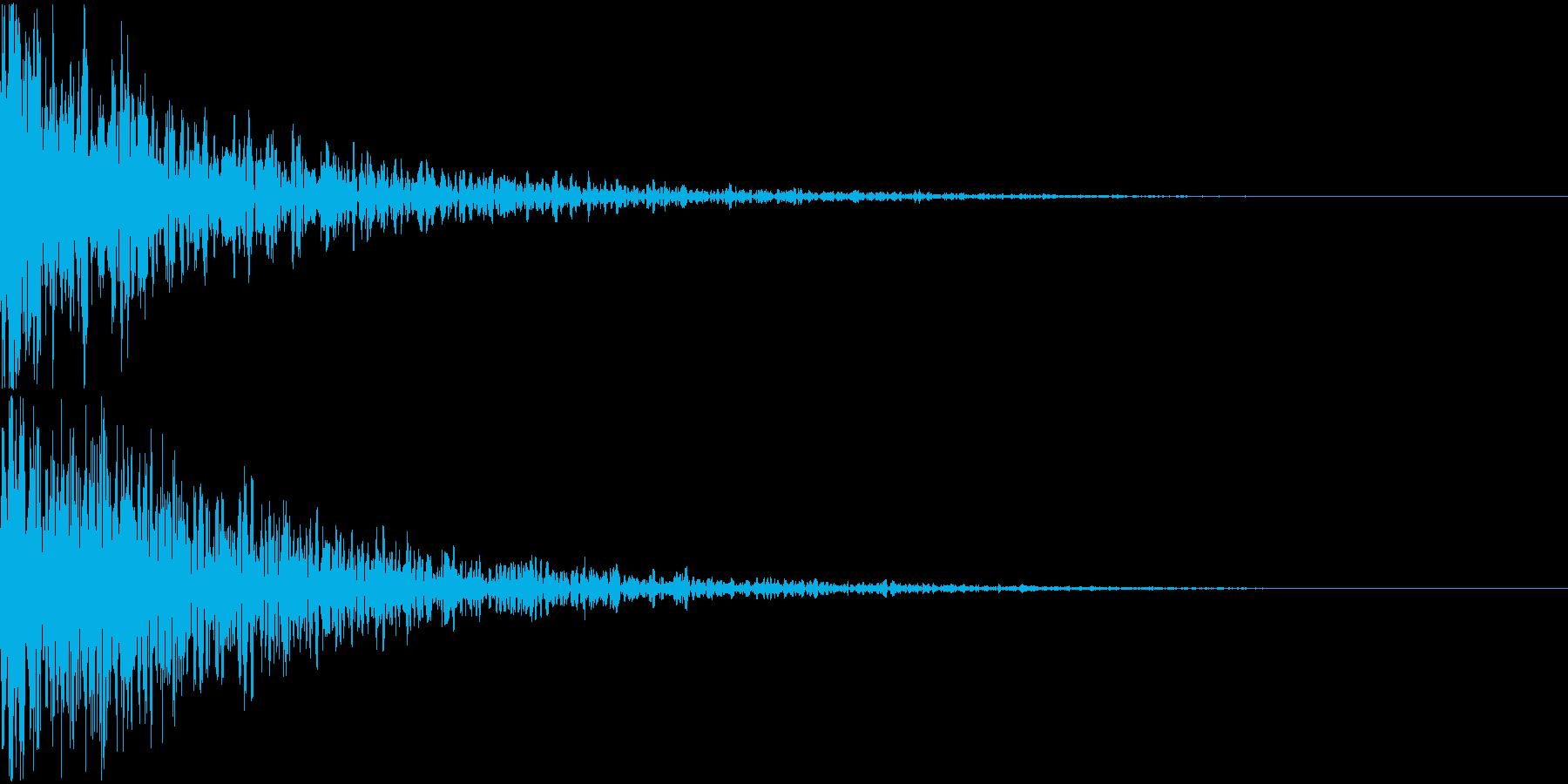 ドーン-11-2(インパクト音)の再生済みの波形