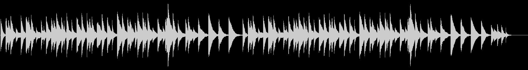オルゴールのシンプルな感動バラードの未再生の波形