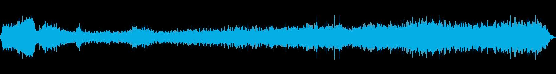 鳴き声で素早く引っ張り、距離を置い...の再生済みの波形