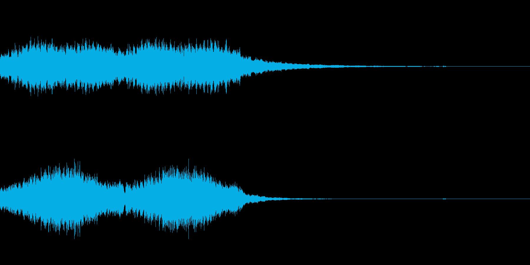 キラキラしているジングルの再生済みの波形