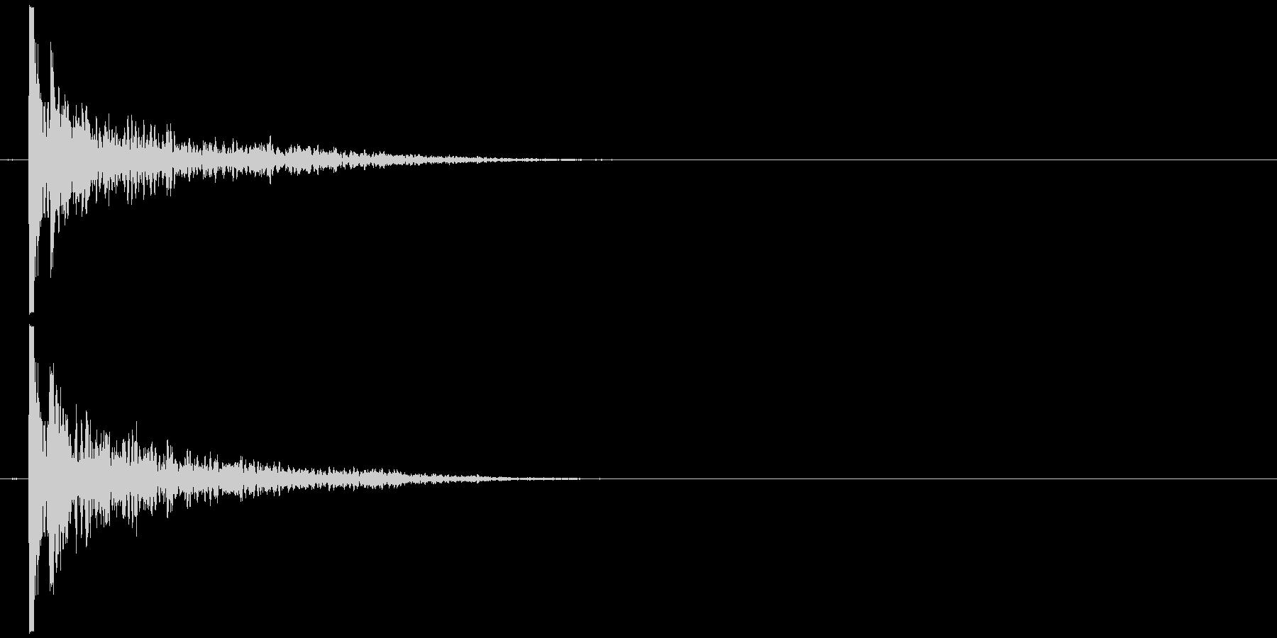 叩く音 31の未再生の波形