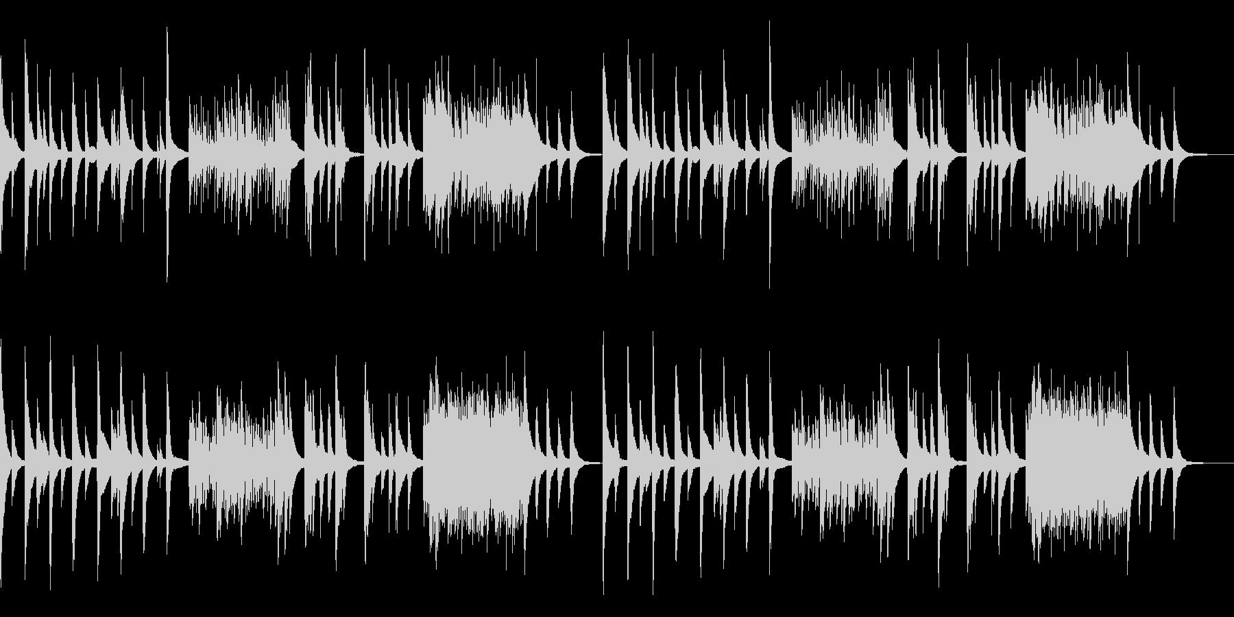 センチメンタルなピアノソロの未再生の波形
