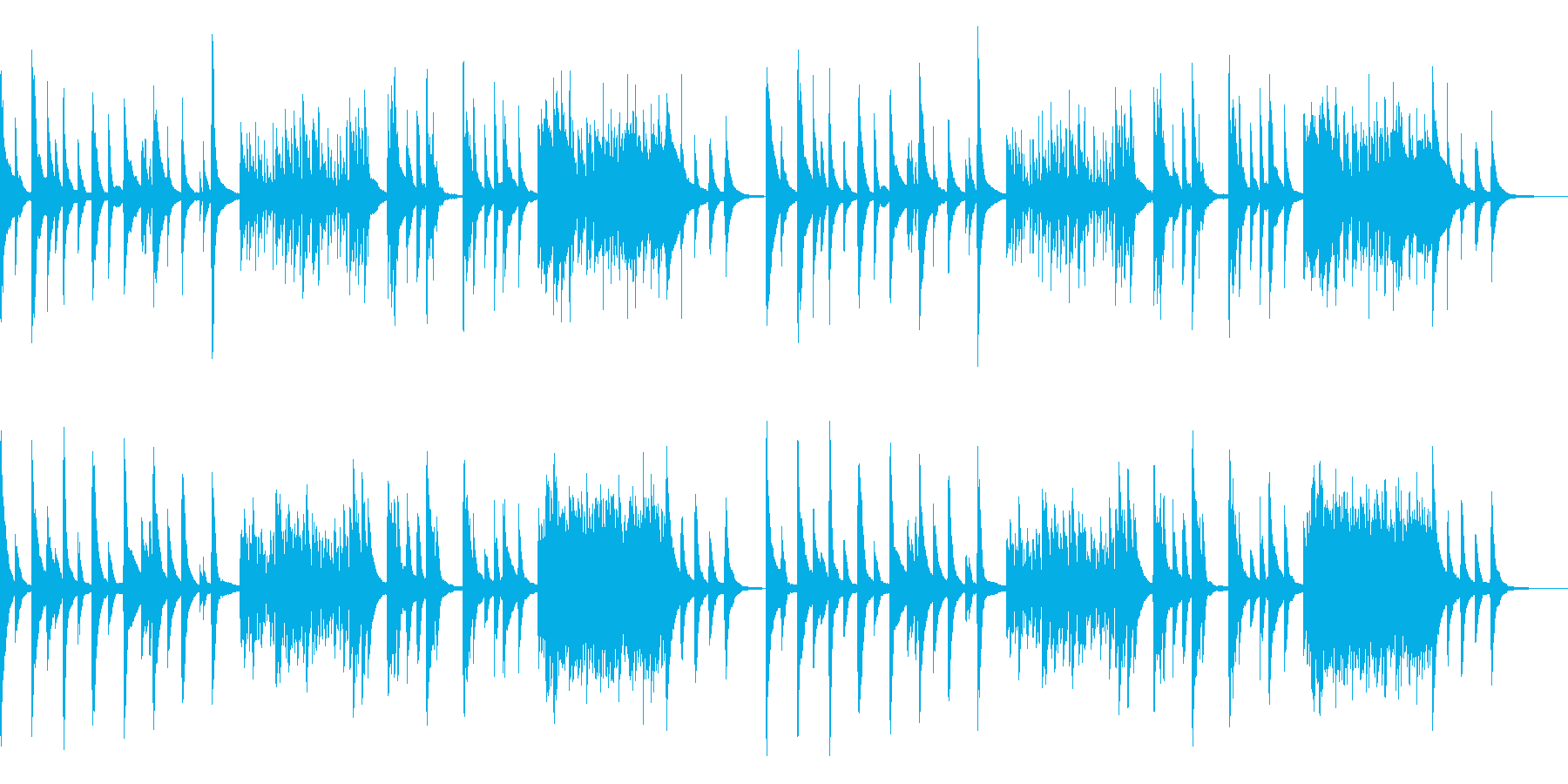 センチメンタルなピアノソロの再生済みの波形