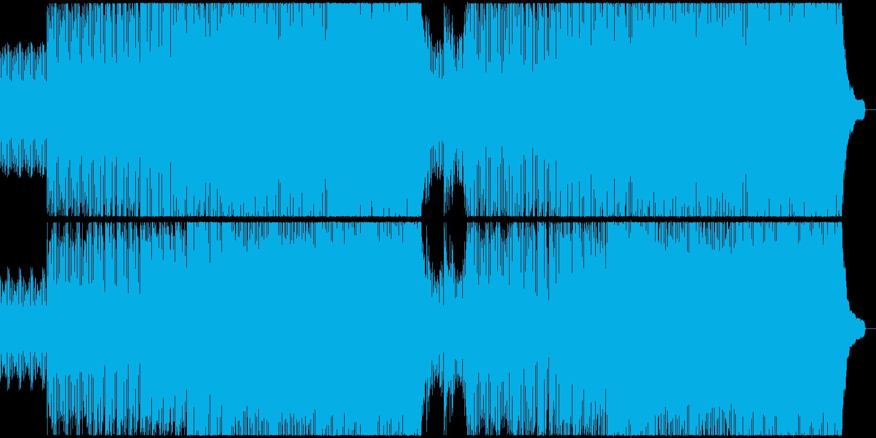ピアノの機械的な曲の再生済みの波形
