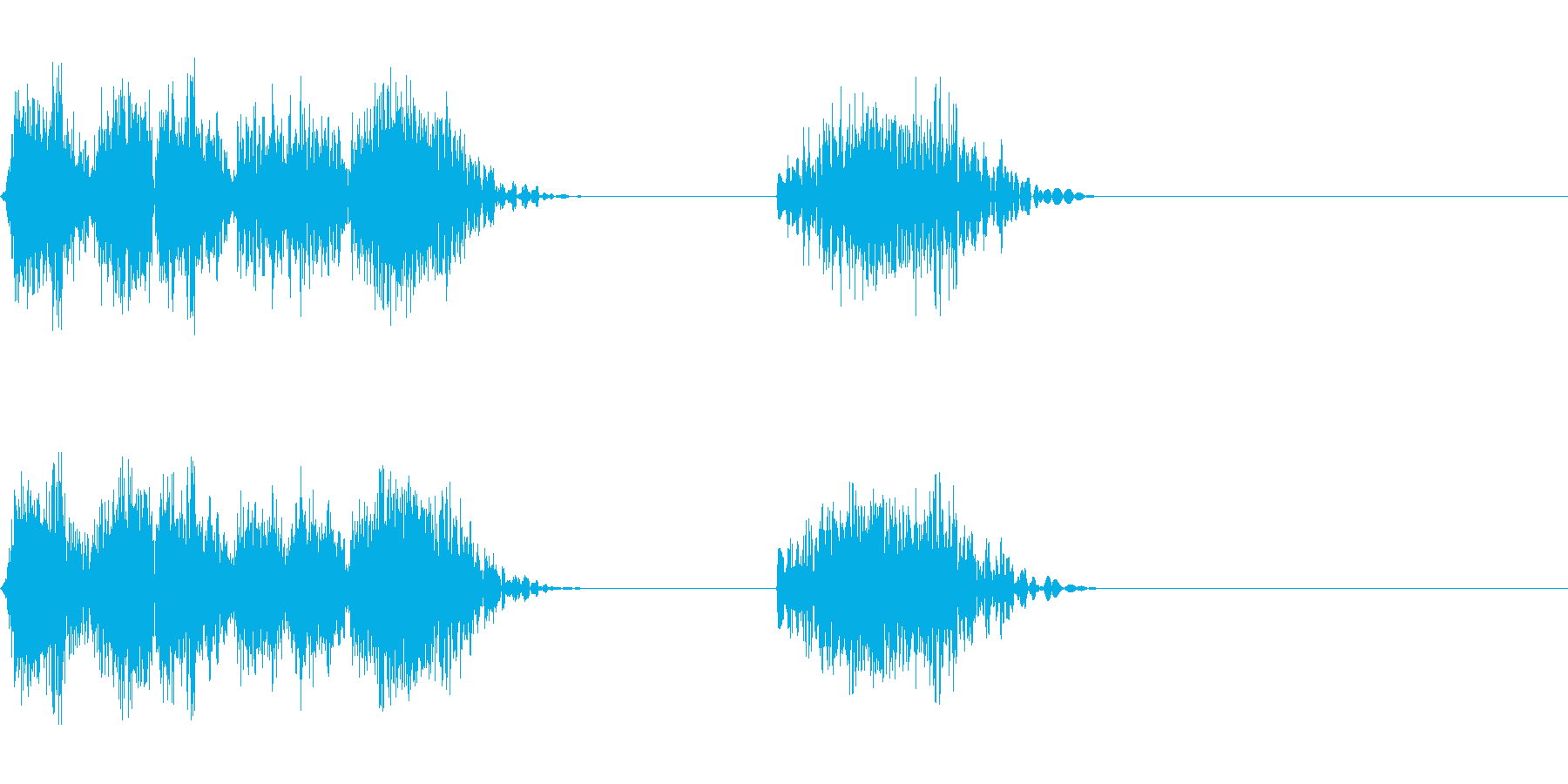 DJスクラッチ05_リバース音05の再生済みの波形