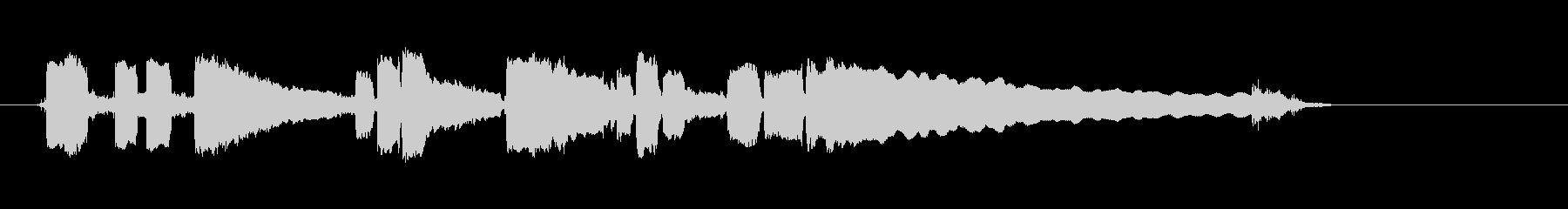 ブルースギター-ショートソロ3の未再生の波形