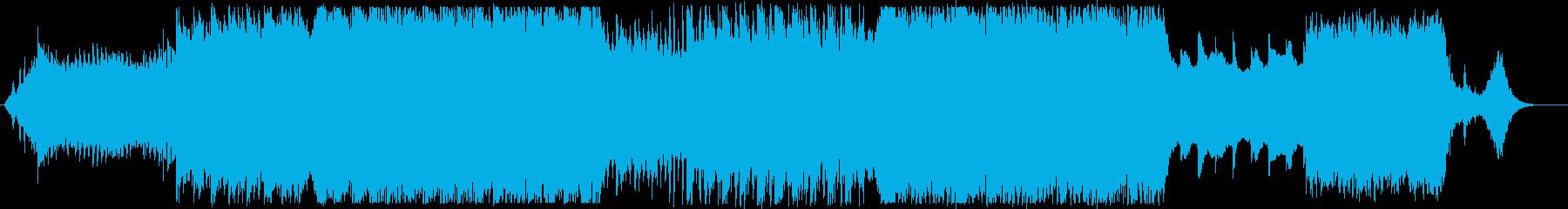 キラキラと輝き、優しいイメージのBGMの再生済みの波形