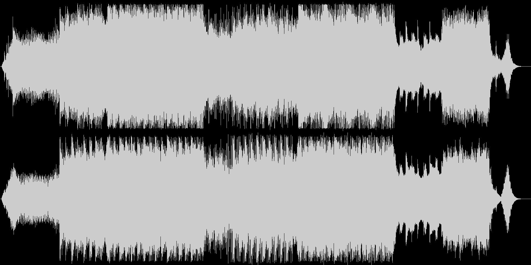 キラキラと輝き、優しいイメージのBGMの未再生の波形