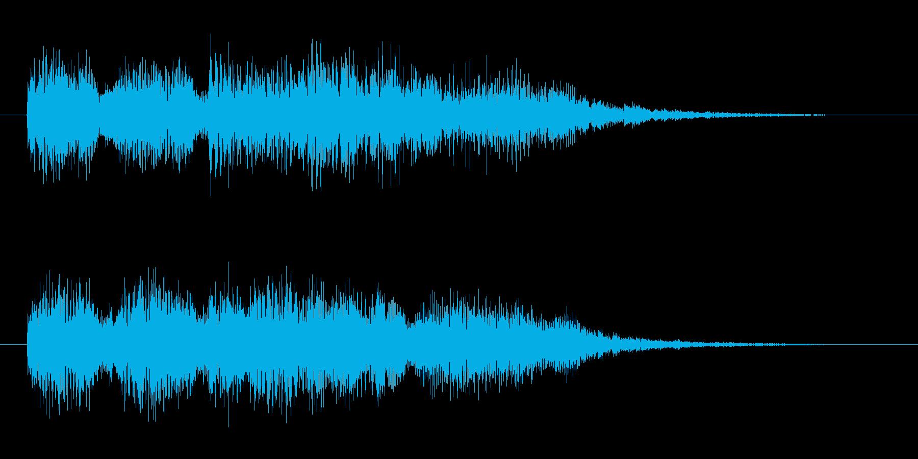 ゲームオーバー 派手な失敗 おおげさな音の再生済みの波形