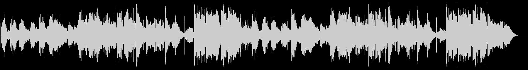 夕焼け空・雄大なノスタルジックピアノの未再生の波形