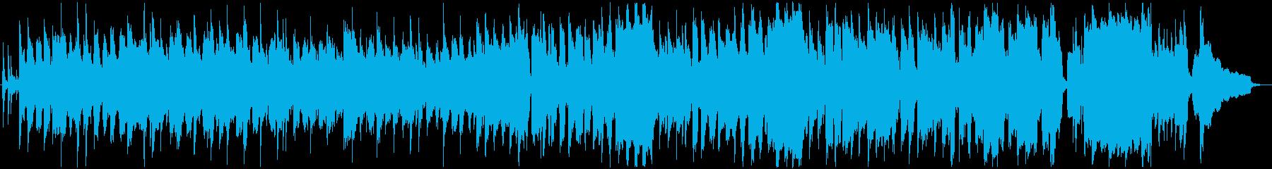 可愛らしいリコーダーの軽快な曲の再生済みの波形