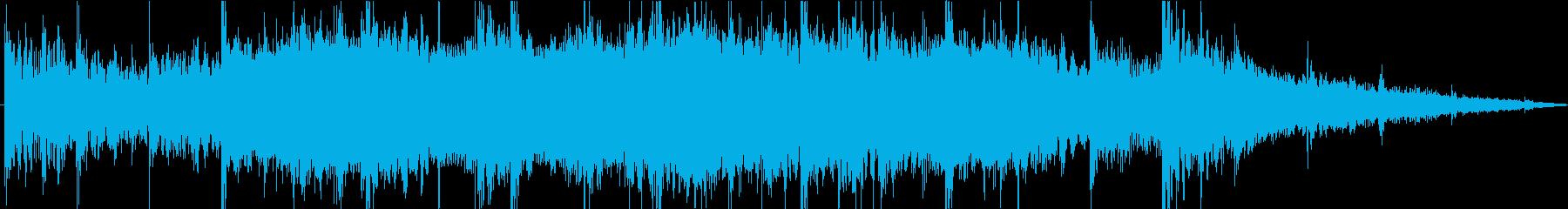 ダイナミックで力強いメロディーの再生済みの波形