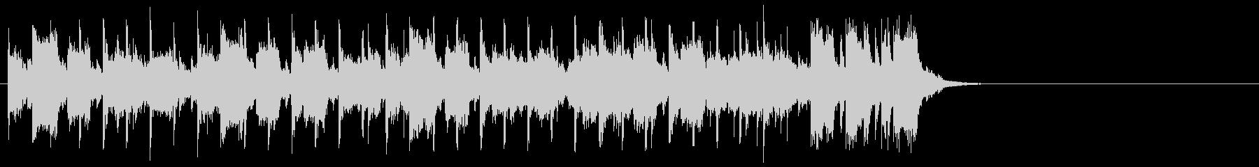 ダンサブルなポップ(サビ)の未再生の波形