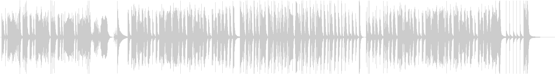 ゆっくり歩く動物をイメージした曲の未再生の波形