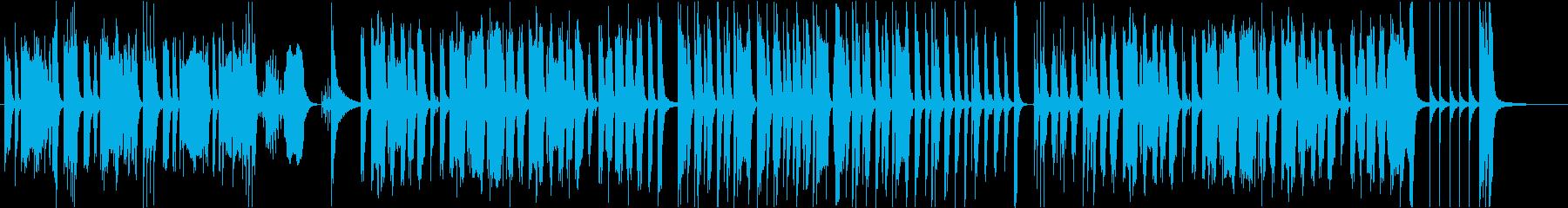 ゆっくり歩く動物をイメージした曲の再生済みの波形