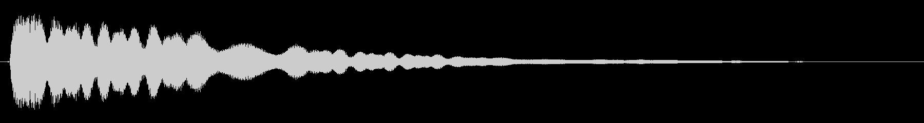 キーン(幻想的な高音)の未再生の波形