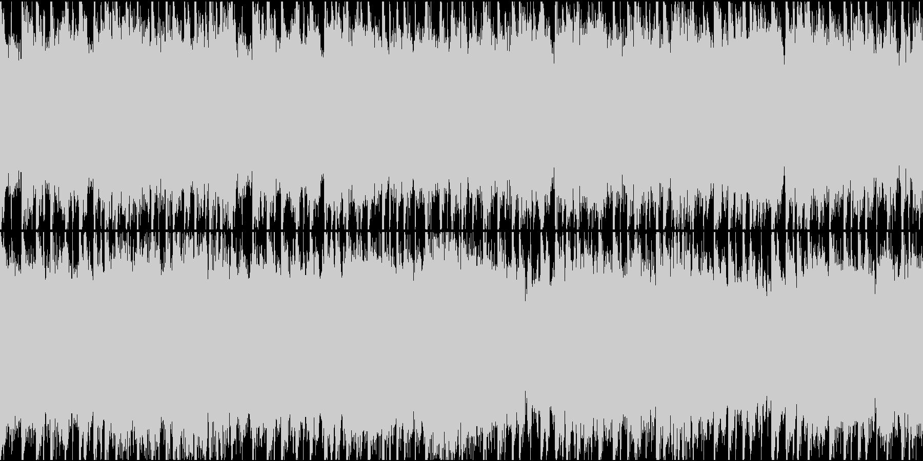 メニュー・待機中(ループ・30sec)の未再生の波形