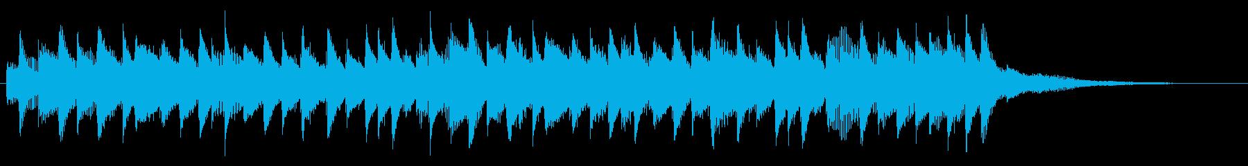 企業VP系ピアノ会社紹介学校紹介ジングルの再生済みの波形