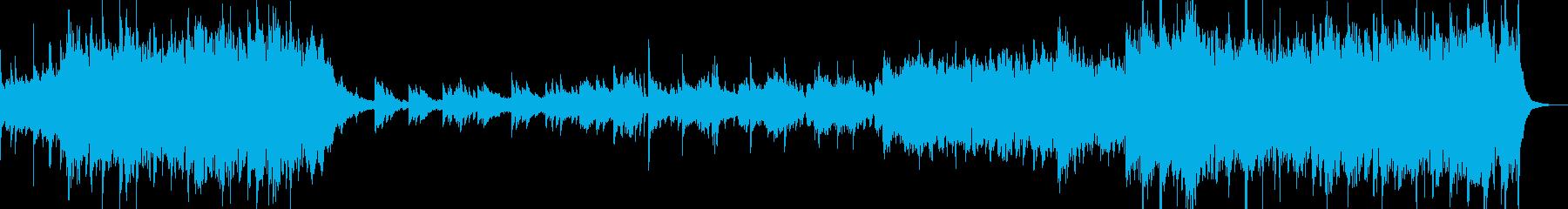 アイリッシュ風の明るく元気なメロディーの再生済みの波形