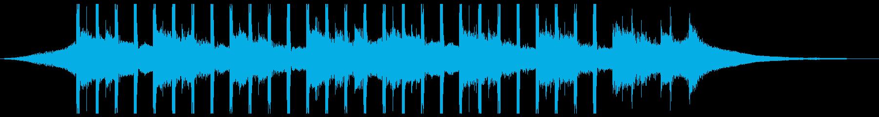 広告の背景(ショート3)の再生済みの波形