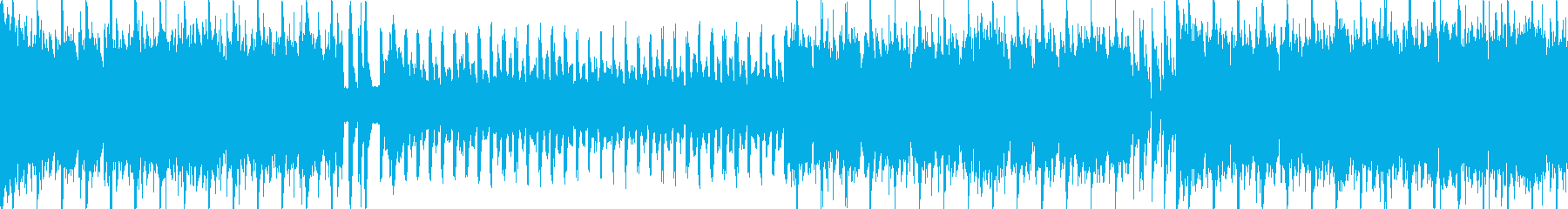 アイドル風キラキラポップ4つ打ちループcの再生済みの波形