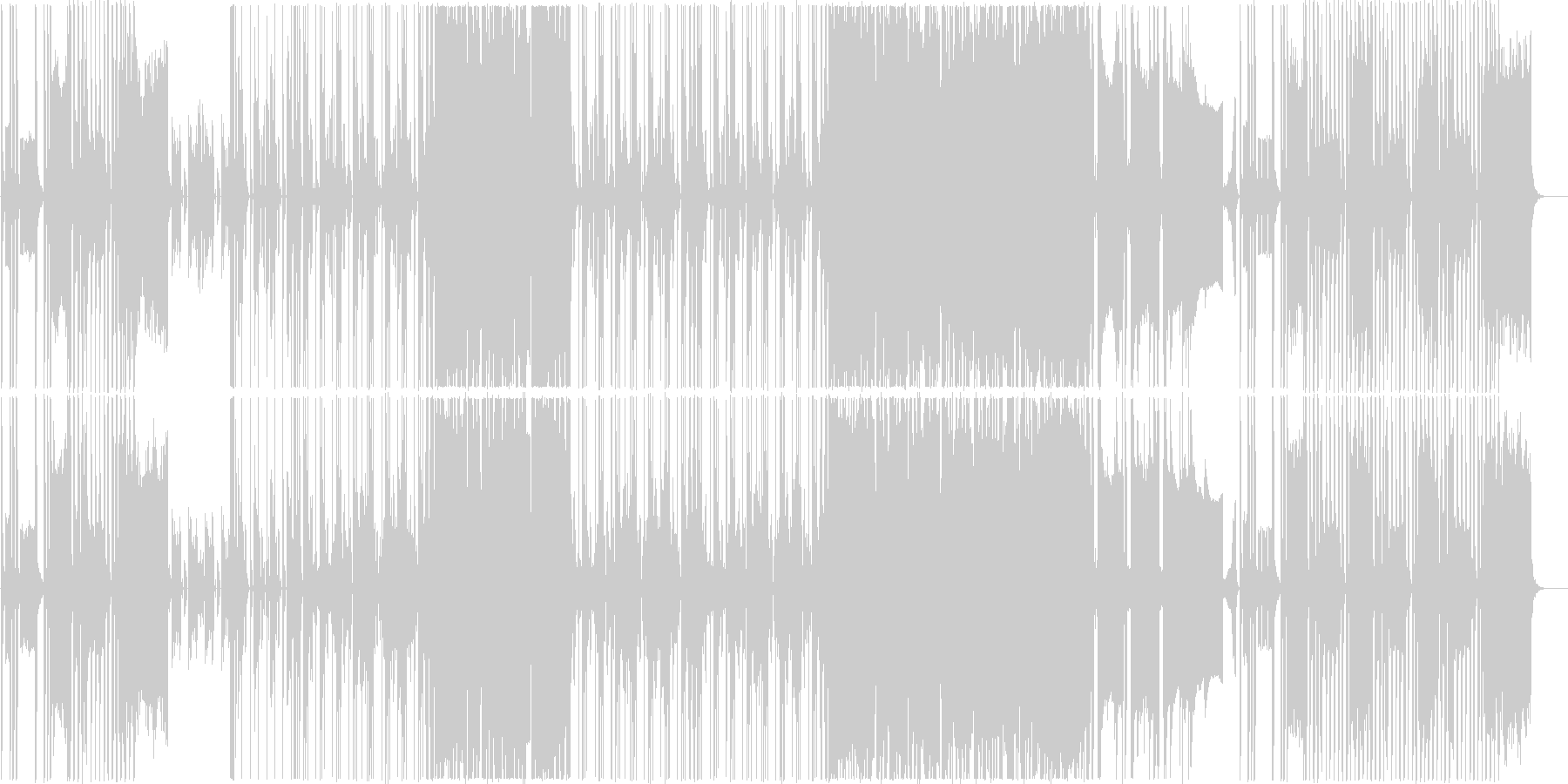 近未来的なPR動画用音楽の未再生の波形