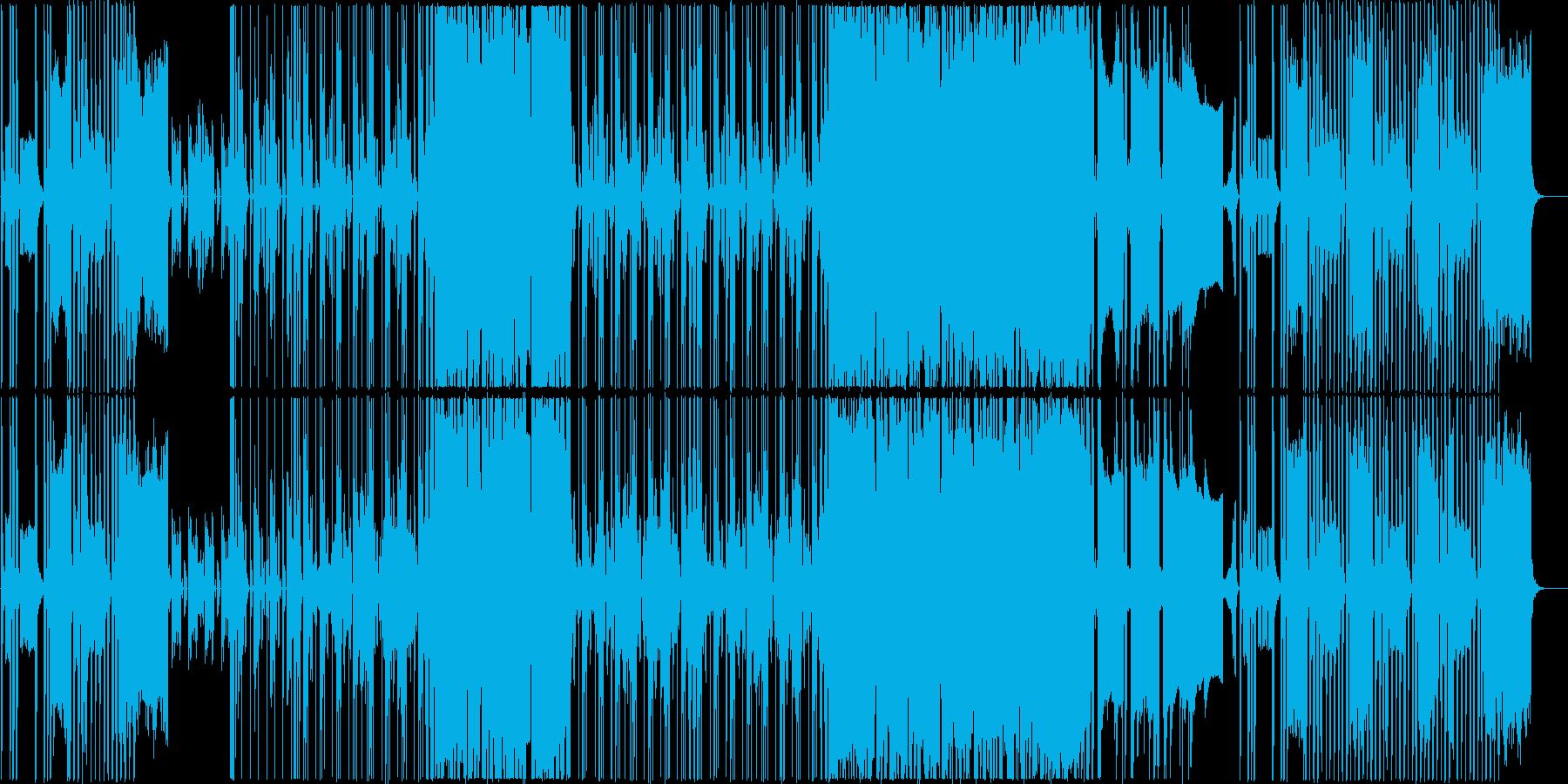 近未来的なPR動画用音楽の再生済みの波形