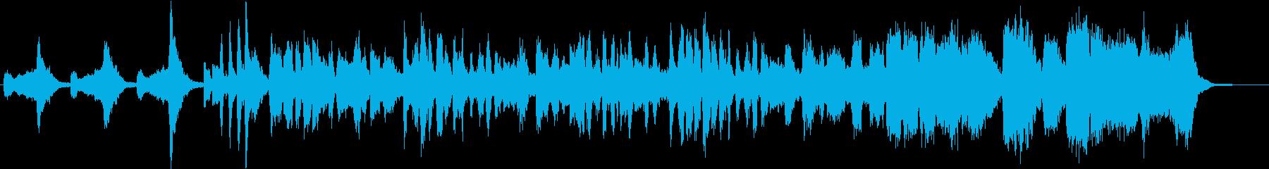 年越しそばをテーマにした楽曲の再生済みの波形