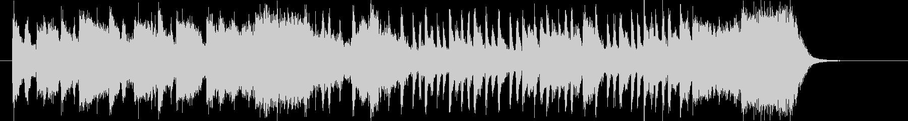明るく元気でアップテンポで広がりのある曲の未再生の波形