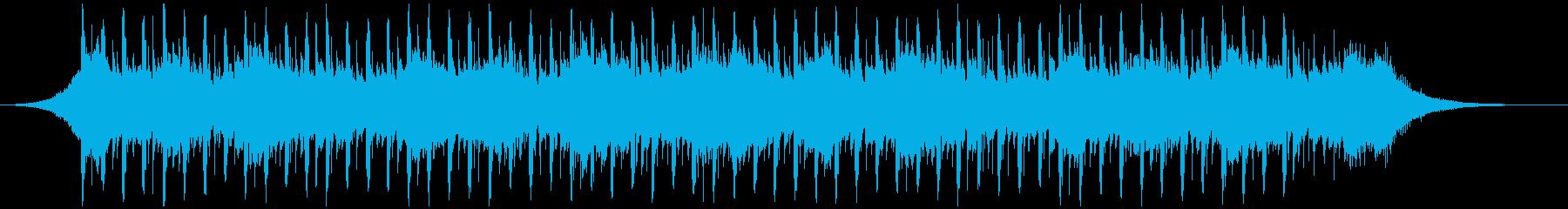 バックグラウンドインタビュー(42秒)の再生済みの波形