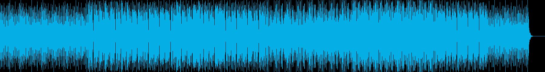 美しい旋律のピアノとエレクトロニカの再生済みの波形