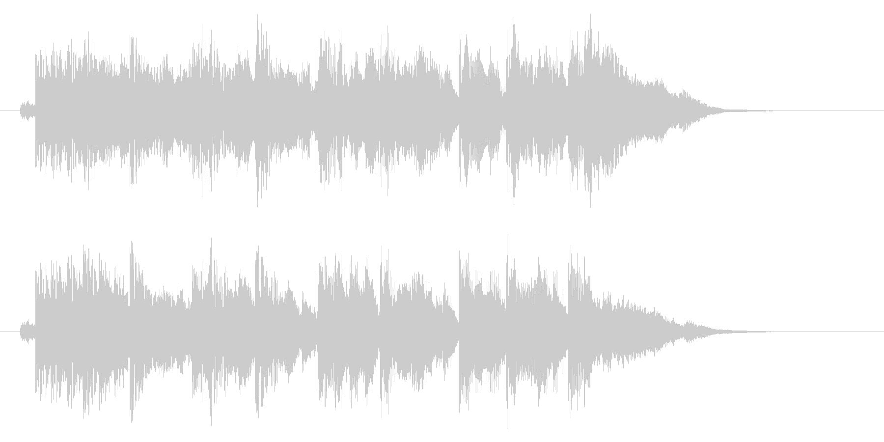 きらびやかなリラクゼーション音楽の未再生の波形