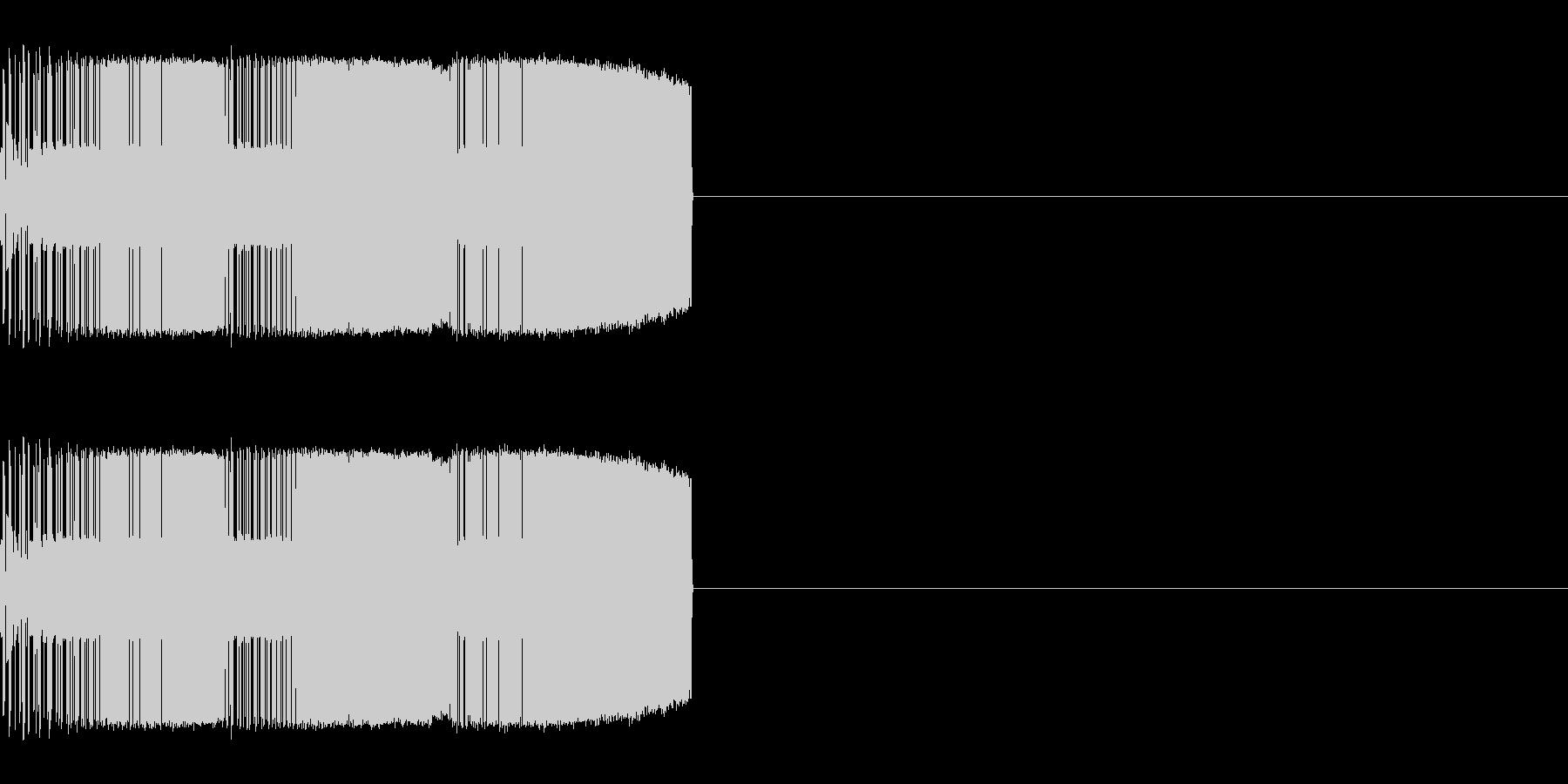 ギューイギューイ(上昇)の未再生の波形