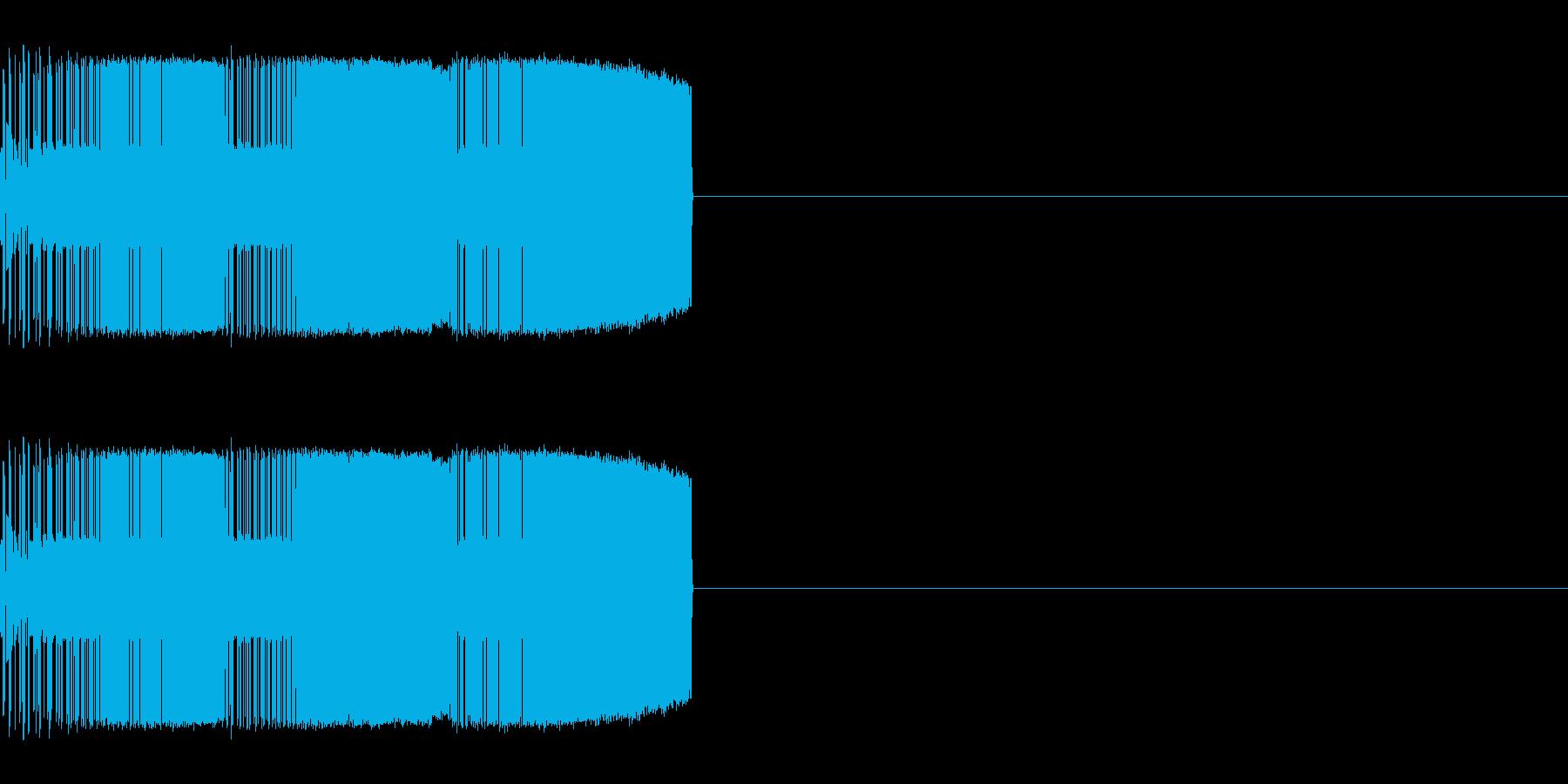 ギューイギューイ(上昇)の再生済みの波形
