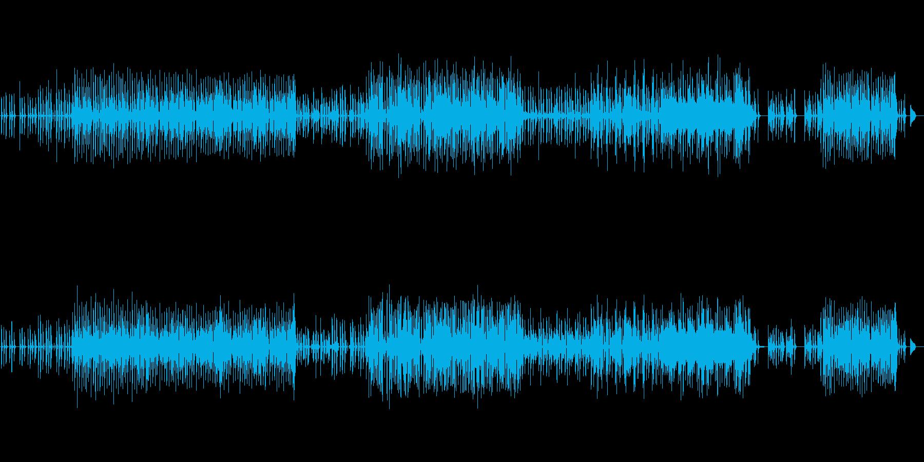 ポジティブ明るい曲ですの再生済みの波形