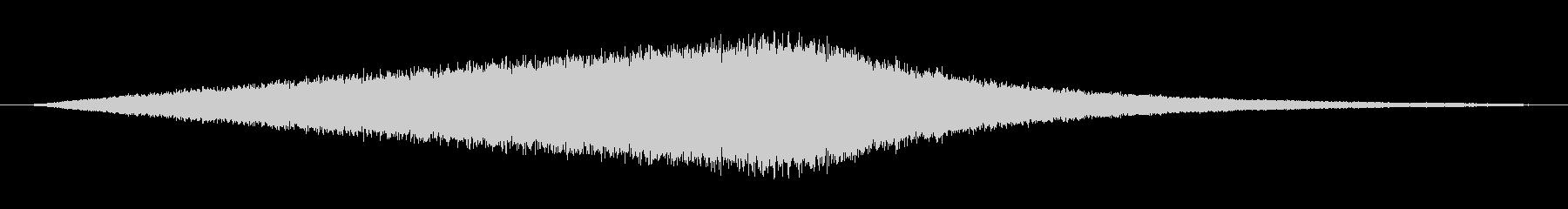掃除機の吸い込み音の未再生の波形