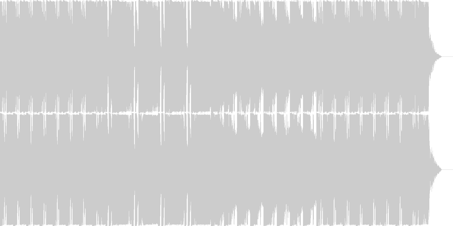 重厚で淡々としたダブステップメタル曲の未再生の波形