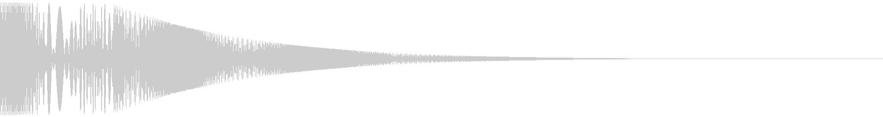 ボヨヨンと柔らかいものが揺れる02の未再生の波形