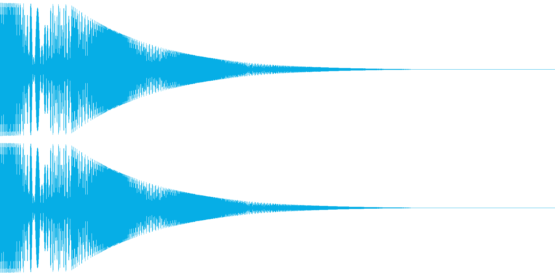ボヨヨンと柔らかいものが揺れる02の再生済みの波形