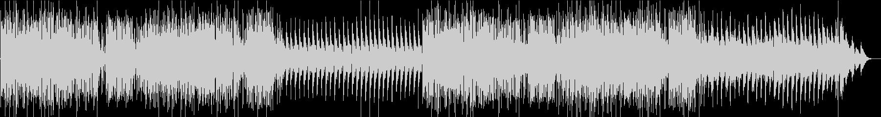 勢いのあるドラムとピアノから始まるBGMの未再生の波形