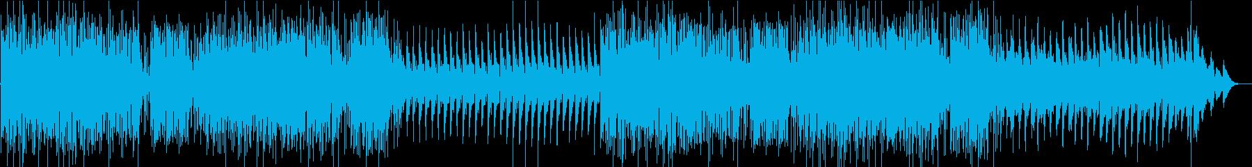 勢いのあるドラムとピアノから始まるBGMの再生済みの波形