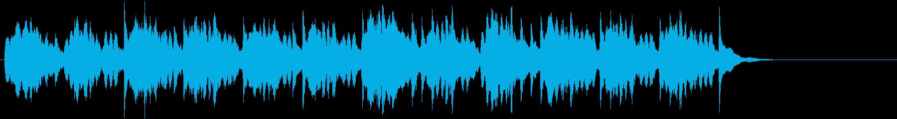 幻想的な音色のインスト曲の再生済みの波形