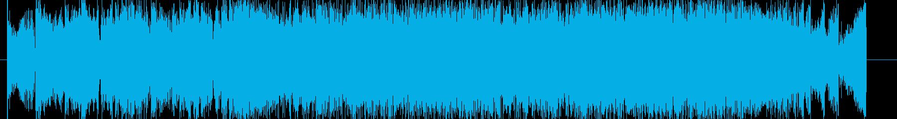 攻撃的なヘビーEギターデジタルサウンドの再生済みの波形