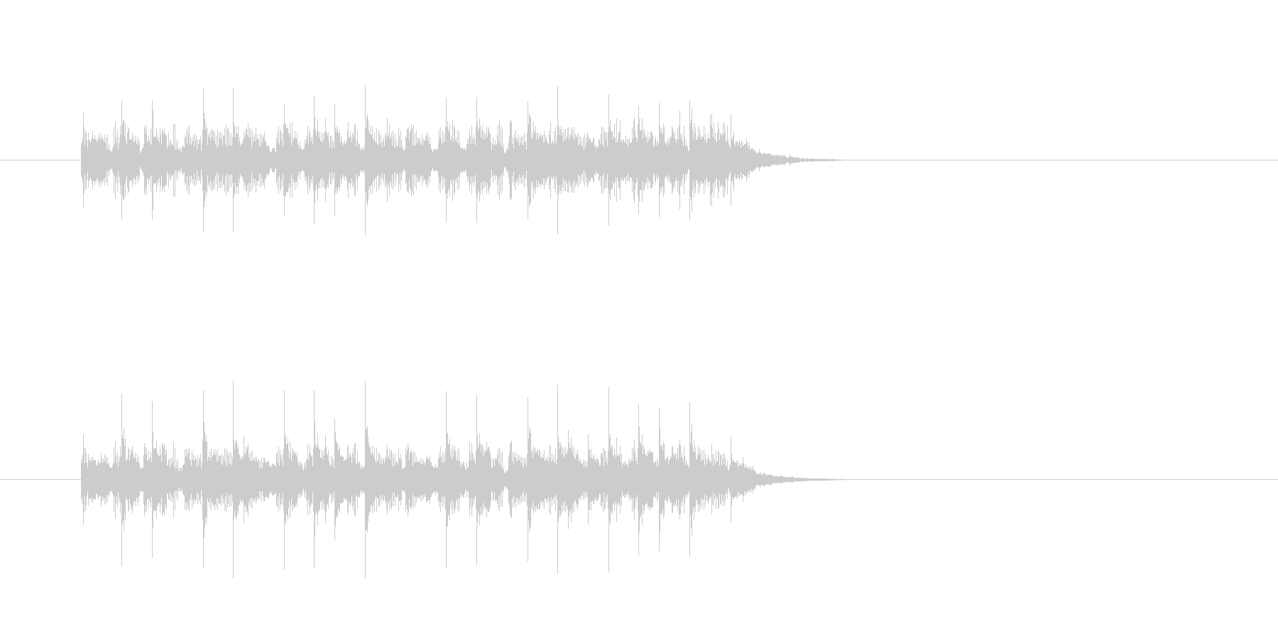 ジングル(ユーロ・ハウス系)の未再生の波形