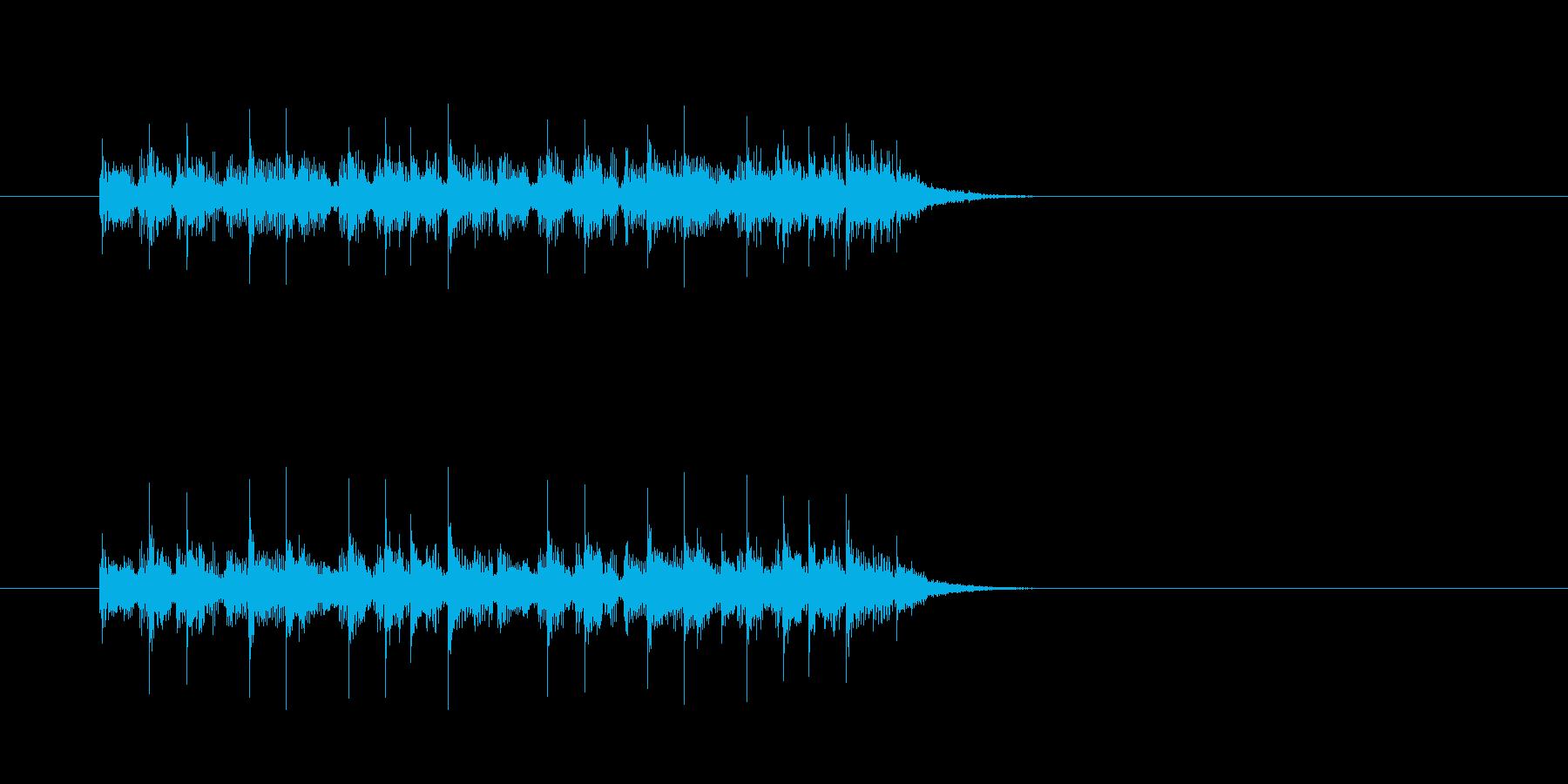 ジングル(ユーロ・ハウス系)の再生済みの波形