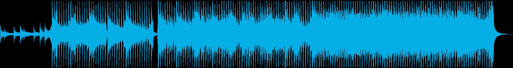 水の循環をイメージしたゆるやかで壮大な曲の再生済みの波形