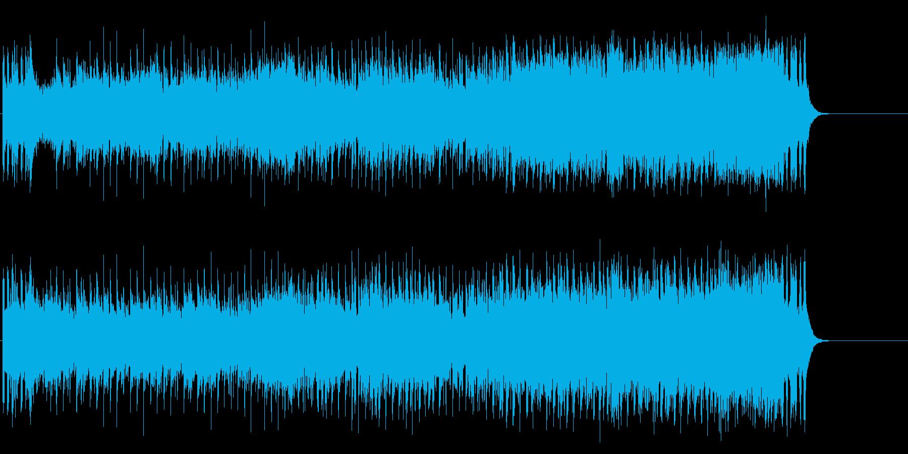 朝の元気な情報番組風オープニングポップの再生済みの波形